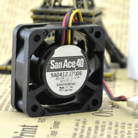 1pc Sanyo 9A0412J7D06 12V 0.11A 4015 4CM 3-wire Double Ball Cooling Fan