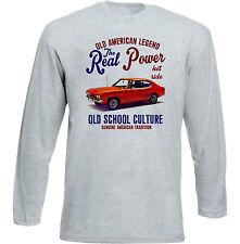 Vintage American Car Ford CAPRI MKI-Nuevo Algodón Camiseta