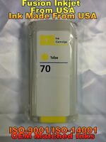 compatible INK Cartridge yellow for HP 70 C9454A z3100 z3200 z5200 z2100 z5400