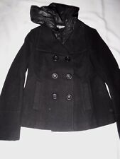 IZZI OUTERWEAR HOODED P COAT SHORT COAT WOMENS SIZE MEDIUM POLYESTER