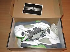 NIKE Air Jordan 5 V retro silver Green Bean 2006 size 10/44 NEW MINT RAR