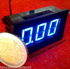 Amperometro Pannello DC 0-10A LED BLU misuratore corrente continua moto solare