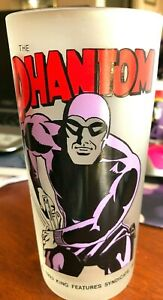 The Phantom Tall Frosted Drinking Glass - Monkeys Of Melbourne 1991