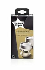 Tommee Tippee Closer to Nature Milk Storage Lids (4-pack)