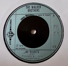 """THE WALKER BROTHERS - NO REGRETS. /EX. 1975 ISSUE. 7"""" SINGLE."""
