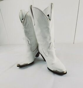 Miss Capezio Fringe White Western Splatter Pattern Womens Cowboy Boots Size 7