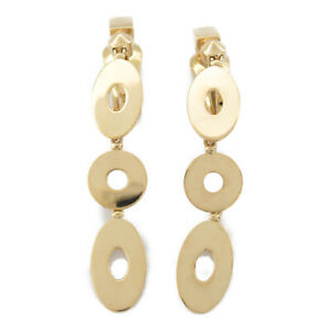 BVLGARI Lucia clip Earring boucle doreilles K18 750 Yellow Gold Used