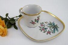 Langenthal Kaffeegedeck bestehend aus Tasse & Teller Golddekor Flower Design