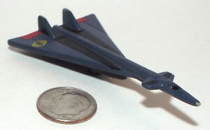 Small Micro Machine Plastic B-70 Valkyie Jet Bomber in Blue with Yellow Cobra