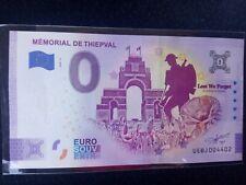 BILLET EURO SOUVENIR/0 EURO SCHEINE 2020-4 MÉMORIAL DE THIEPVAL ANNIVERSAIRE
