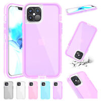 For iPhone 12 Pro Max 11 XS XR 8 7 6s SE2 Case Hybrid Shockproof Bumper Cover