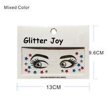 Gesicht Schmuck Juwelen Aufkleber Steinchen MAKE-UP sg04 bunte Sternchen