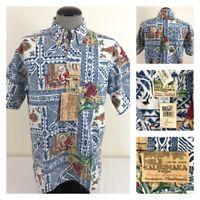 Rare Reyn Spooner Mele Kalikimaka Mens L XMAS 99 Limited Issue Hawaiian Shirt