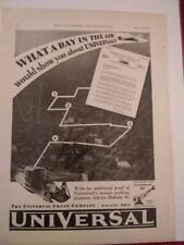1929 Universal Crane Co. Ad, Advertisement: Truck Crane & Model 35 Lorain, Ohio
