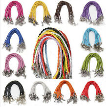 10X Multi Colors Leather Chains Necklace Charms Findings String Cord Bracelets