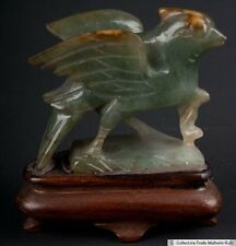China 20. JH. Vogel-a Chinese Jadeite carving of a bird scultura cinese chinois