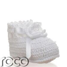 Bautizo Regalos, Zapatos Niña Flores, De Bautizo, para niñas, color blanco