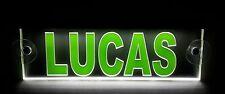 Trucker Namensschild LKW,LED beleuchtet, super Effekt, LUCAS oder Wunschname