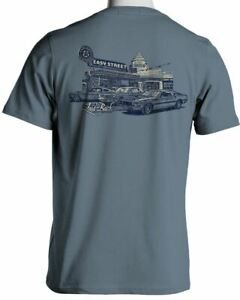 Ford Classic Mustangs Easy Street Laid Back T-Shirt in Ice Blue - FREE USA SHIP!