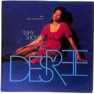 "Des'ree Why Should I Love You? UK 7"" Vinyl Record Single 1992 6580917 45 VG+"