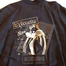Iceberg Men's Sylvester XL (52) Lightweight Black Zip Jacket