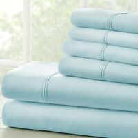 Ultra Soft Egyptian Comfort 4 Piece Sheet Set - 2 FREE BONUS PILLOWCASES!