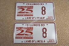 NOS 1993 Illinois License Plates 25th Anniversary Central Illinois Corvette 93