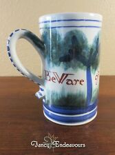 Vintage Williamsburg Faience Pottery Stoneware Mug Beware of the Fox