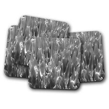 4 Set - Metallic Mercury Coaster - Liquid Metal Silver Quicksilver Gift #12592