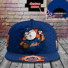 New York Mets Custom Name Snapback Cap Mlb Baseball Hat Fan Apparel Cap.