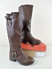 NEW Women's SO Authentic American Heritage SOSKI Brown Boots w/Buckle Size 6 MED