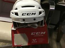 New White Ccm V08 Pro Stock Ice Hockey Player Helmet large