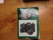 Ricoh KR-5 Camera Manual