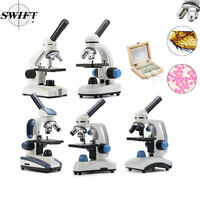 Multiple 40X-1000X Compound Microscope Student Biological Science LED w/ Parts