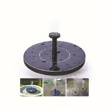 Floating Solar Powered Garden Water Fountain Pump Pond for Pool Bird Bath Tank