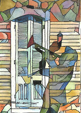 """Original Hand Painted FRENCH QUARTER, JACKSON SQUARE, NEW ORLEANS """"Jazz Shadow"""""""