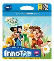 VTech InnoTab Disney Fairies Tinker Bell Software Game Cartridge Play Learn NEW