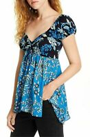 Free People Size Small Women's Top La Bamba Babydoll Floral Shirt
