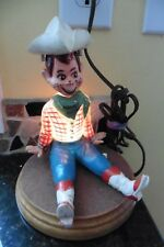 Howdy Doody Night Light Vintage Lamp Nite Lite light up Cowboy Western WORKING