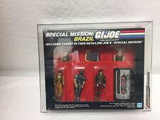 1986 Brazil Mission Set AFA-85 RARE GIJOE COBRA MIP MOC SEALED Complete /sc