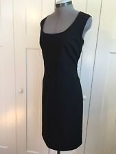 New York and Company casual black swoop neck sheath dress 16