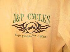 J & P Cycles Mens Long Sleeve Shirt Size Large