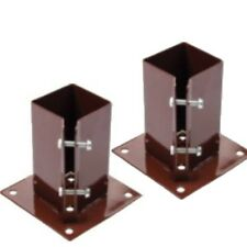 """2 x 100 MM  4"""" BOLT DOWN BOLT GRIP FENCE POST SUPPORT Like Metpost Timber Holder"""