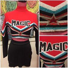 Magic Real Cheerleading Uniform SzL Metallic Crop Top