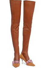 **MALONE SOULIERS** + Adam Lippes Leather Suede Over Knee Boots **£1895.00**