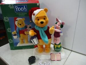 Telco Winnie the Pooh and Piglet Animated and Illuminated Christmas Figures