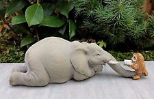 Miniature Dollhouse FAIRY GARDEN Figurine ~ Owl Reading Book to Elephant ~ NEW