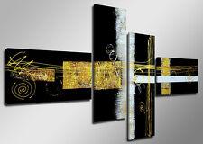 Tableau Déco Moderne Abstrait contemporain 4 partie Image sur toile 160 x 70cm