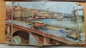 VINTAGE CHAD VALLEY 'CP'  WOODEN JIGSAW PUZZLE - London Highways