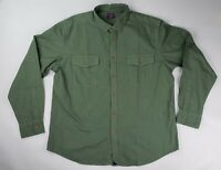 UNTUCKit Mens Size XXL Green Olive Button Down Utility Shirt Long Sleeve NWOT